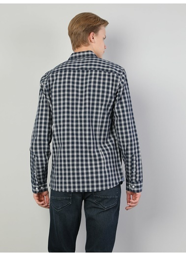 Colin's Colin'S Uzun Kol Shirt Neck Slim Fit Erkek Gömlek Lacivert